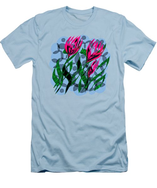 3 Posies Men's T-Shirt (Slim Fit) by Adria Trail