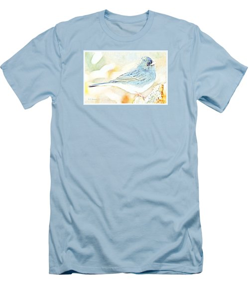 Slate-colored Junco, Snowbird, Male, Animal Portrait Men's T-Shirt (Slim Fit) by A Gurmankin