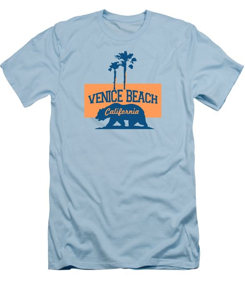 Venice Beach La. Men's T-Shirt (Slim Fit) by Lerak Group LLC
