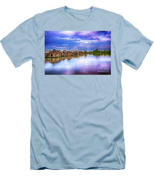 Men's T-Shirt (Slim Fit) featuring the photograph Village by Charuhas Images
