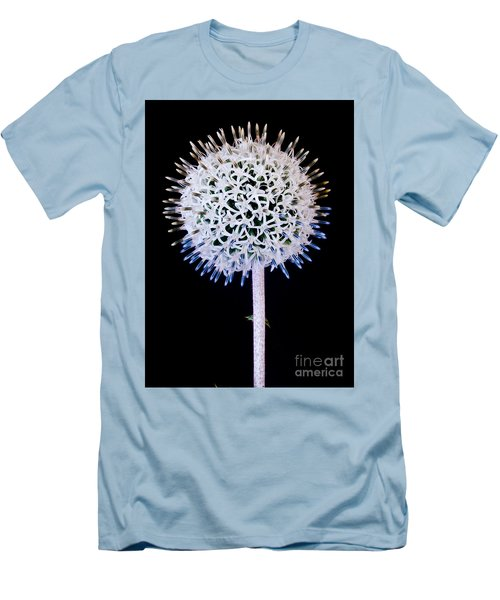 White Alium Onion Flower Men's T-Shirt (Athletic Fit)