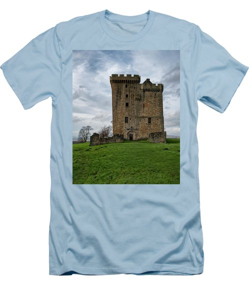 Men's T-Shirt (Athletic Fit) featuring the photograph Clackmannan Tower by Jeremy Lavender Photography