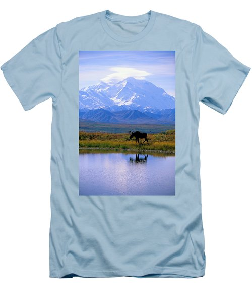 Denali National Park Men's T-Shirt (Slim Fit) by John Hyde - Printscapes