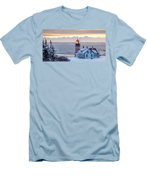 West Quoddy Lighthouse Men's T-Shirt (Slim Fit) by Trace Kittrell