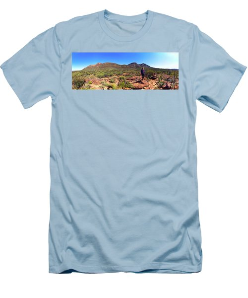 Men's T-Shirt (Slim Fit) featuring the photograph Wilpena Pound by Bill Robinson