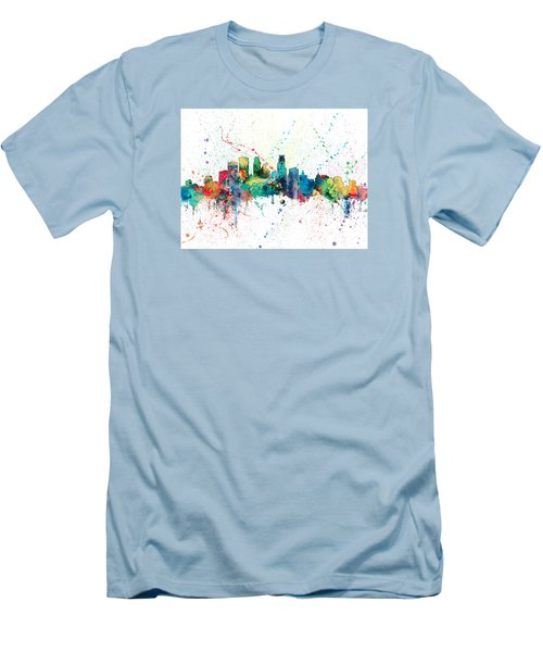 Minneapolis Minnesota Skyline Men's T-Shirt (Athletic Fit)