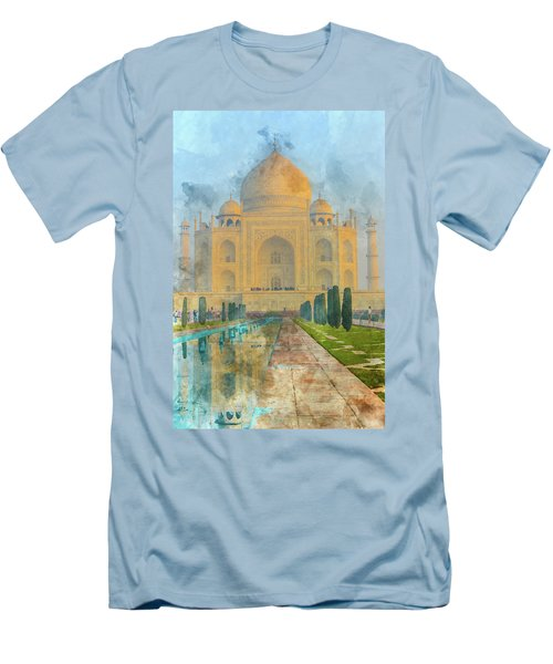 Taj Mahal In Agra India Men's T-Shirt (Athletic Fit)