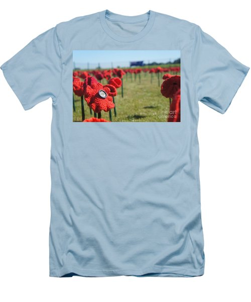 5000 Poppies Men's T-Shirt (Slim Fit) by Therese Alcorn