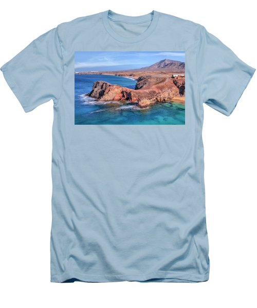 Playa Papagayo - Lanzarote Men's T-Shirt (Slim Fit) by Joana Kruse