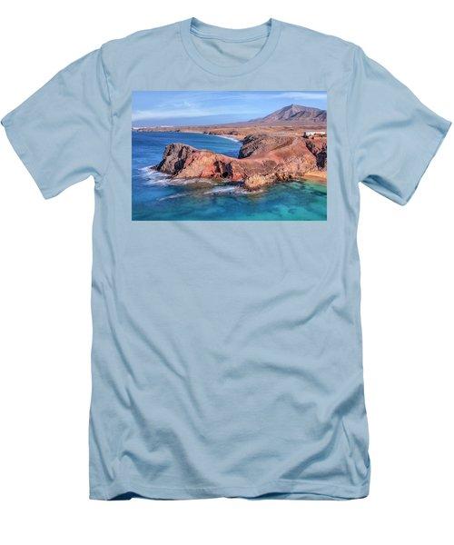 Playa Papagayo - Lanzarote Men's T-Shirt (Slim Fit) by Joana Kruse