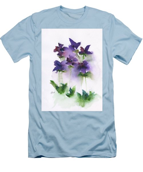 6 Violets Abstract Men's T-Shirt (Slim Fit) by Frank Bright
