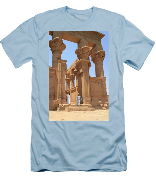 Temple Of Isis Men's T-Shirt (Slim Fit) by Silvia Bruno