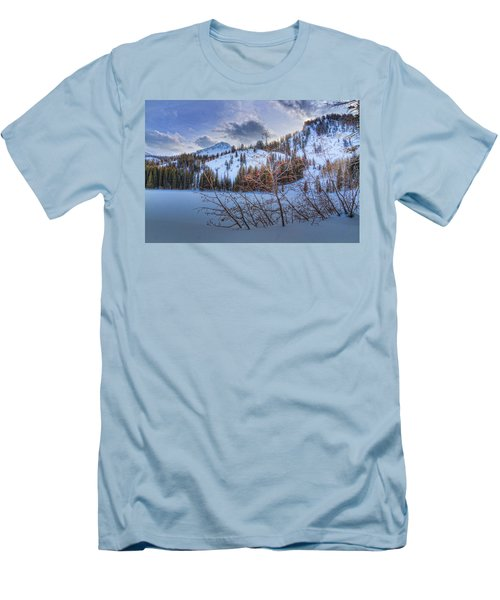 Wasatch Mountains In Winter Men's T-Shirt (Slim Fit) by Utah Images
