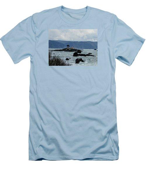 Winter White Men's T-Shirt (Slim Fit) by Marilyn Diaz