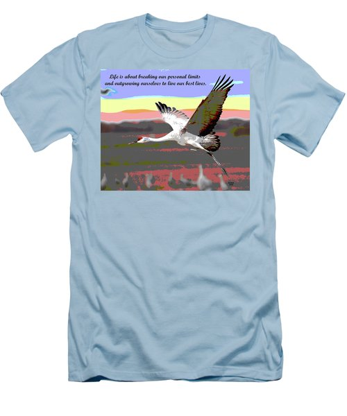 Motivational Quotes Men's T-Shirt (Slim Fit) by Charles Shoup