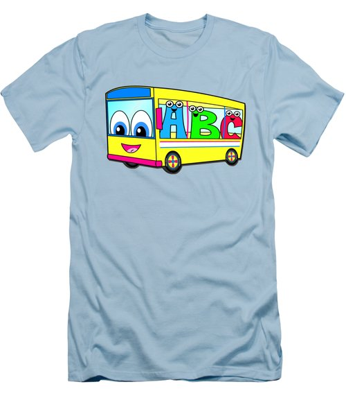 A B C Bus T-shirt Men's T-Shirt (Slim Fit) by Herb Strobino