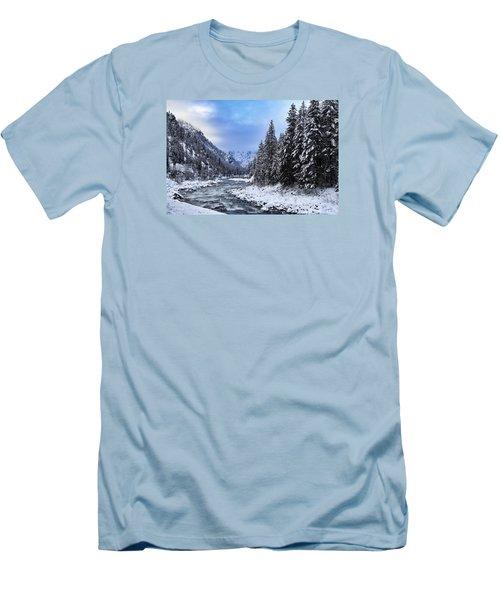 A Cold Winter Day  Men's T-Shirt (Slim Fit) by Lynn Hopwood