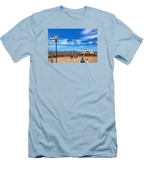 Men's T-Shirt (Athletic Fit) featuring the photograph A Day At Pier 39 by John M Bailey