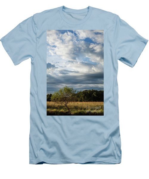 Men's T-Shirt (Slim Fit) featuring the photograph A Day In The Prairie by Iris Greenwell