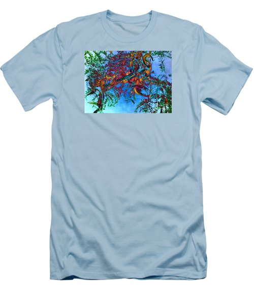 A Fabric Of Illusion Men's T-Shirt (Slim Fit) by Roselynne Broussard