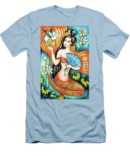 Men's T-Shirt (Slim Fit) featuring the painting A Letter From Far Away by Eva Campbell