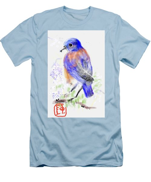 A Little Bird In Blue Men's T-Shirt (Athletic Fit)