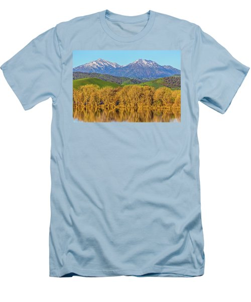 A Little Snow On Mt. Diablo Men's T-Shirt (Athletic Fit)