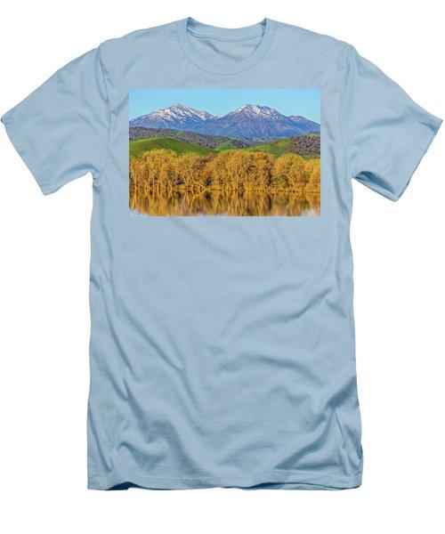 A Little Snow On Mt. Diablo Men's T-Shirt (Athletic Fit)