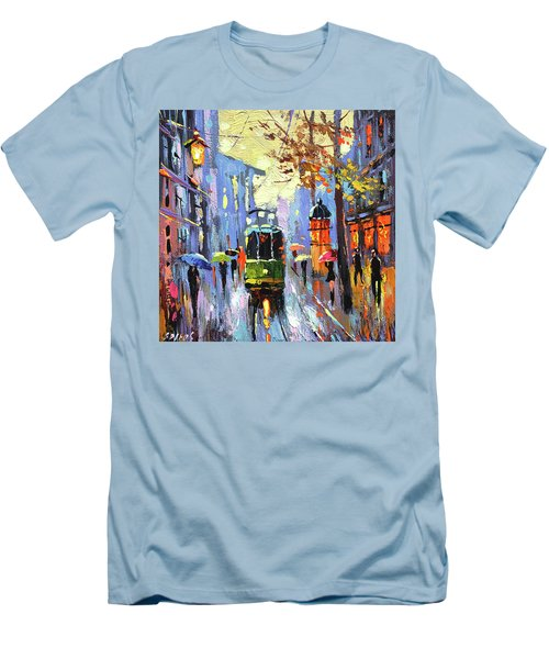A Lonley Tram  Men's T-Shirt (Athletic Fit)