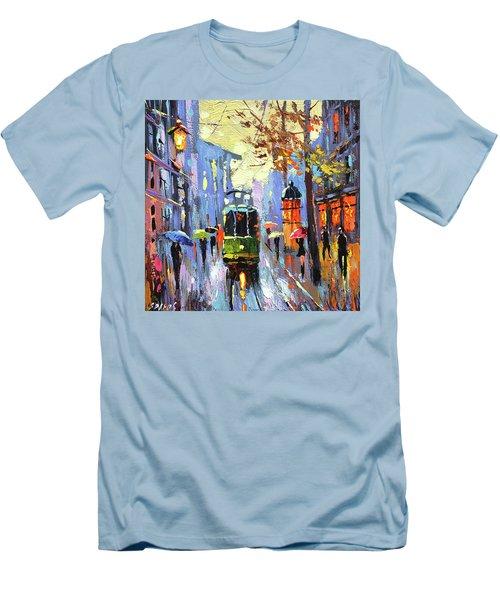A Lonley Tram  Men's T-Shirt (Athletic Fit)