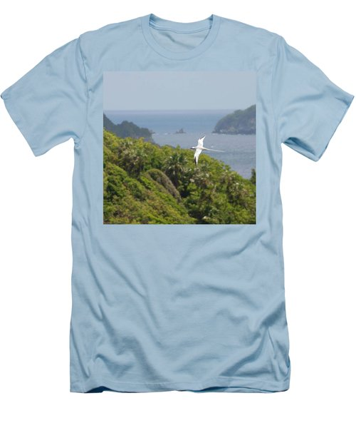 A Red-billed Tropicbird (phaethon Men's T-Shirt (Slim Fit)