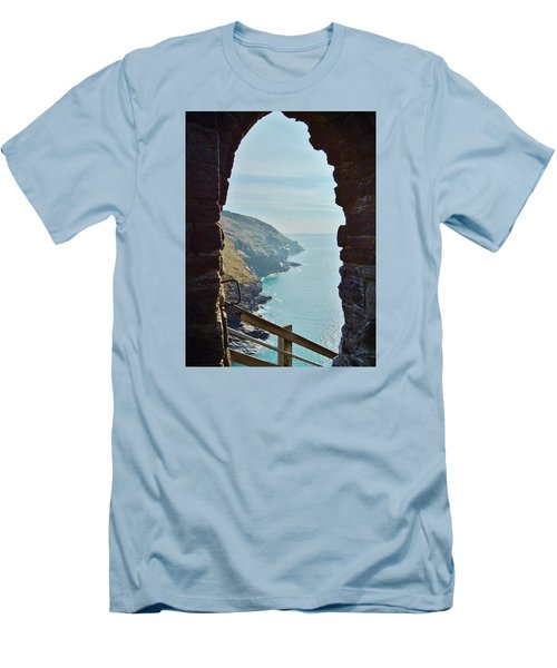 A Room With A View Men's T-Shirt (Slim Fit) by Richard Brookes