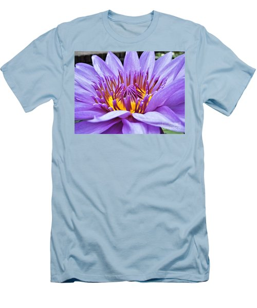 A Sliken Purple Water Lily Men's T-Shirt (Athletic Fit)