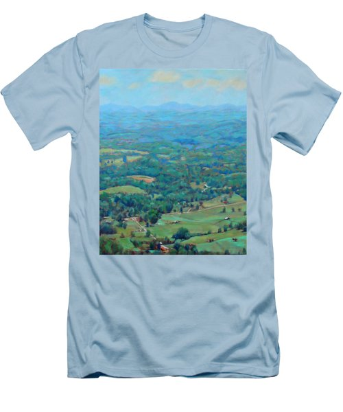 A Slow Summer's Day- View From Roanoke Mountain Men's T-Shirt (Slim Fit) by Bonnie Mason