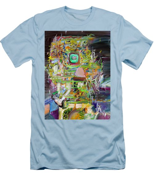 Men's T-Shirt (Slim Fit) featuring the painting A Small Portion Of Herself by Fabrizio Cassetta