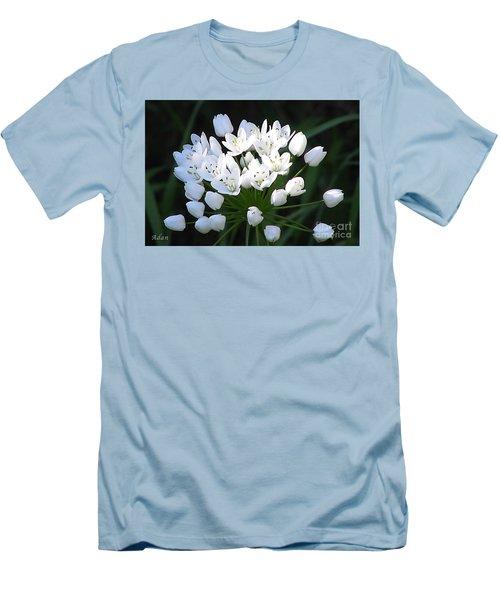 A Spray Of Wild Onions Men's T-Shirt (Slim Fit) by Felipe Adan Lerma