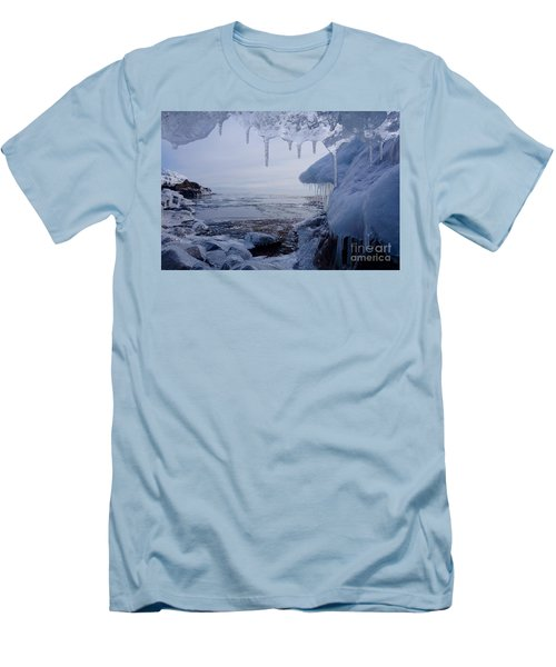 A Superior Ice Cave Men's T-Shirt (Slim Fit) by Sandra Updyke