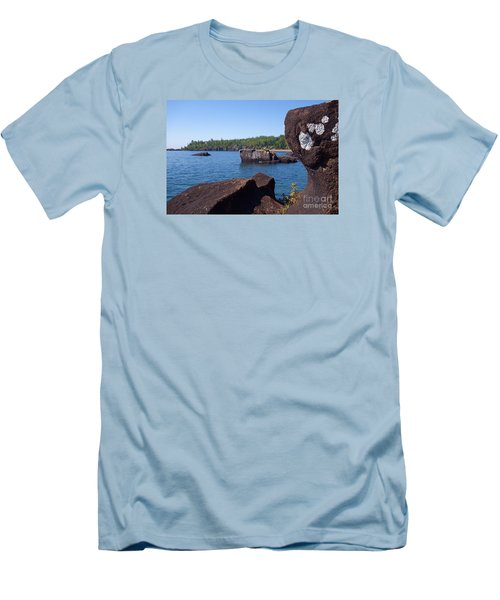 Men's T-Shirt (Slim Fit) featuring the photograph A Superior View by Sandra Updyke