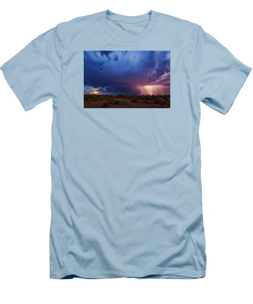 A Tale Of Two Nights Men's T-Shirt (Slim Fit) by Rick Furmanek