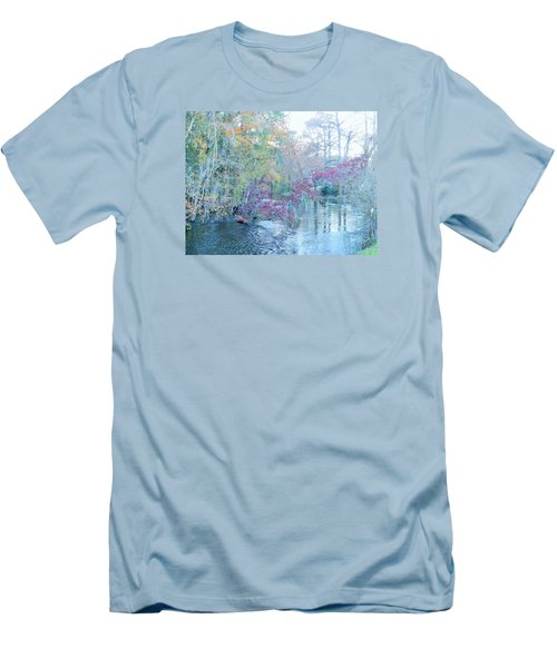 Men's T-Shirt (Slim Fit) featuring the photograph A View Of Autumn by Kay Gilley
