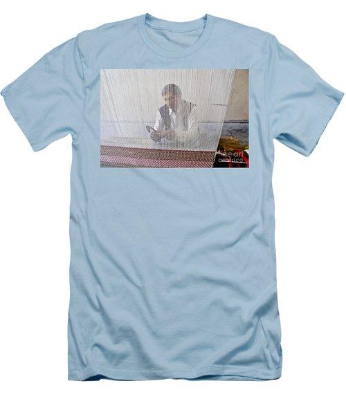 A Weaver Weaves A Carpet. Men's T-Shirt (Athletic Fit)