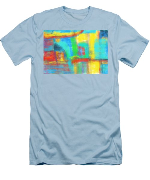 Men's T-Shirt (Slim Fit) featuring the painting A Yellow Day by Susan Stone