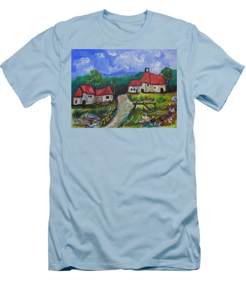 Abandoned Farm Men's T-Shirt (Slim Fit) by Clyde J Kell