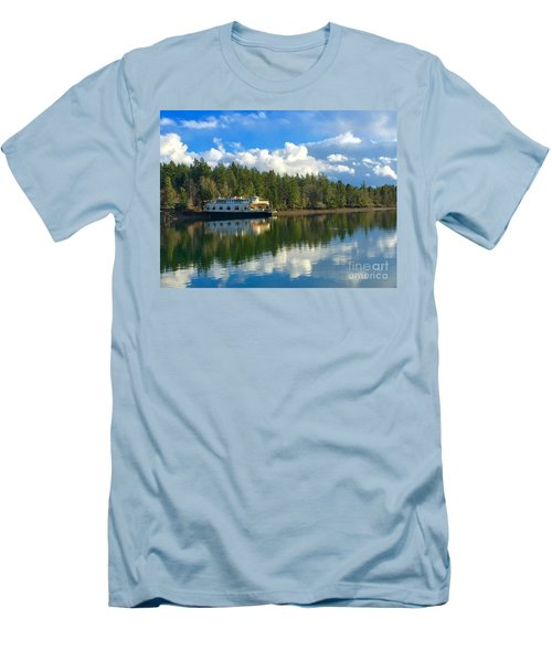 Abandoned Ferry Men's T-Shirt (Slim Fit) by Sean Griffin