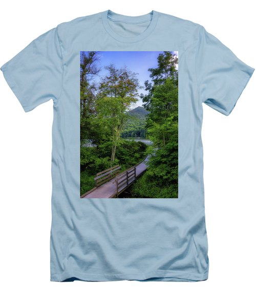 Abbott Lake Trail Men's T-Shirt (Athletic Fit)