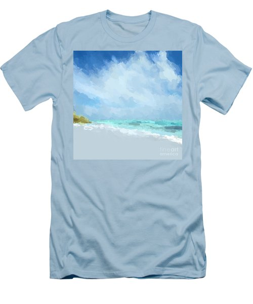 Abstract Beach Afternoon  Men's T-Shirt (Slim Fit) by Anthony Fishburne