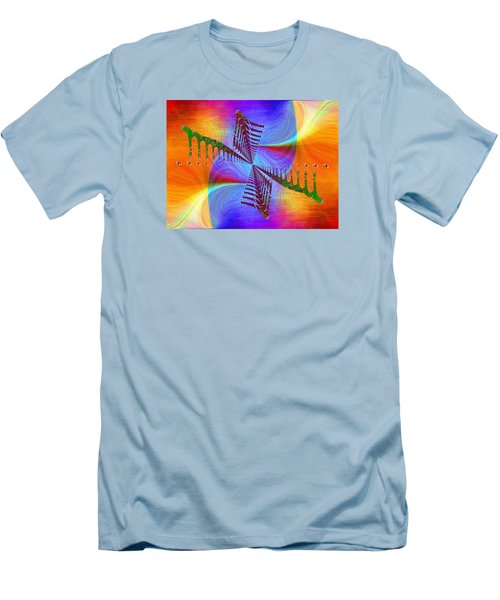 Men's T-Shirt (Slim Fit) featuring the digital art Abstract Cubed 372 by Tim Allen
