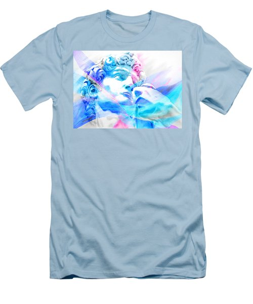 Men's T-Shirt (Slim Fit) featuring the painting Abstract David Michelangelo 3 by J- J- Espinoza