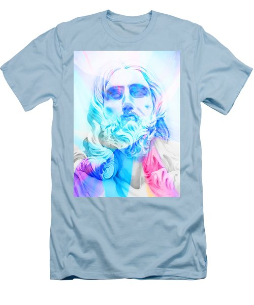 Men's T-Shirt (Slim Fit) featuring the painting Abstract Jesus 3 by J- J- Espinoza