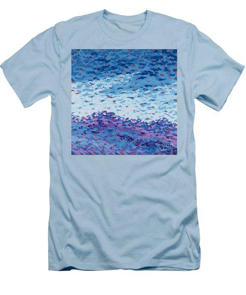 Abstract Landscape Painting 2 Men's T-Shirt (Slim Fit) by Gordon Punt